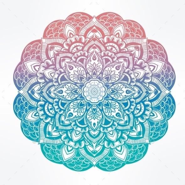 Paisley Floral Mandala