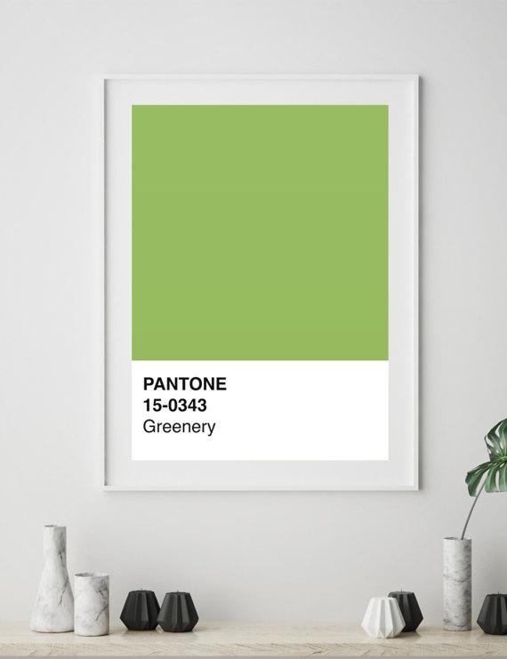 Pantone Modern Wall Poster
