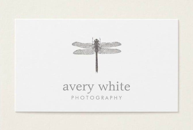 Minimalist Photography Business Card