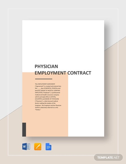 physian employment contract