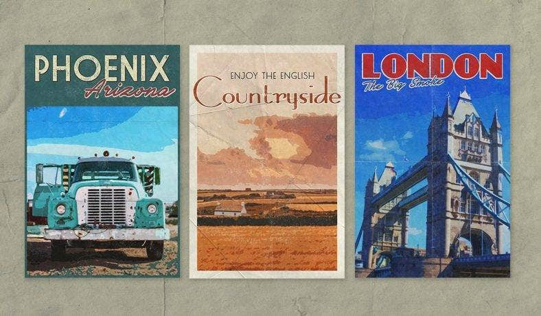 Vintage Travel Poster Press