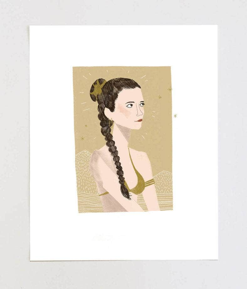 Princess Leia Star Wars Illustration