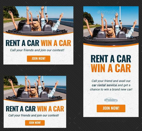 Rent-a-car Wbsite Banner