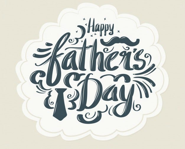 Retro Happy Father's Day Vector