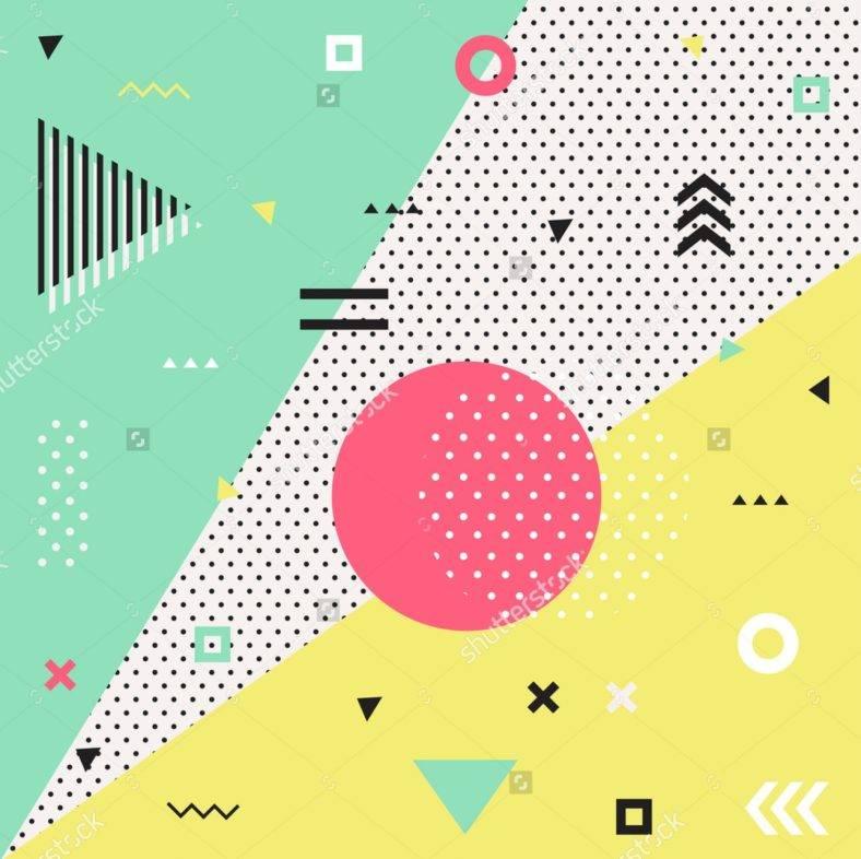 Retro Geometric Abstract
