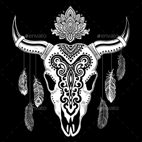 Tribal Animal Skull