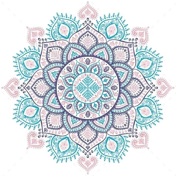 Snowflake Mandala Vector