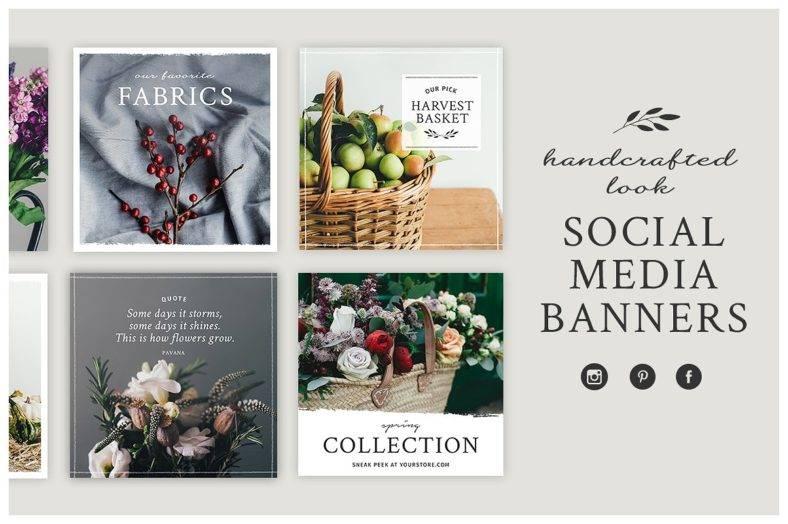 Handmade Social Media Banner Kit
