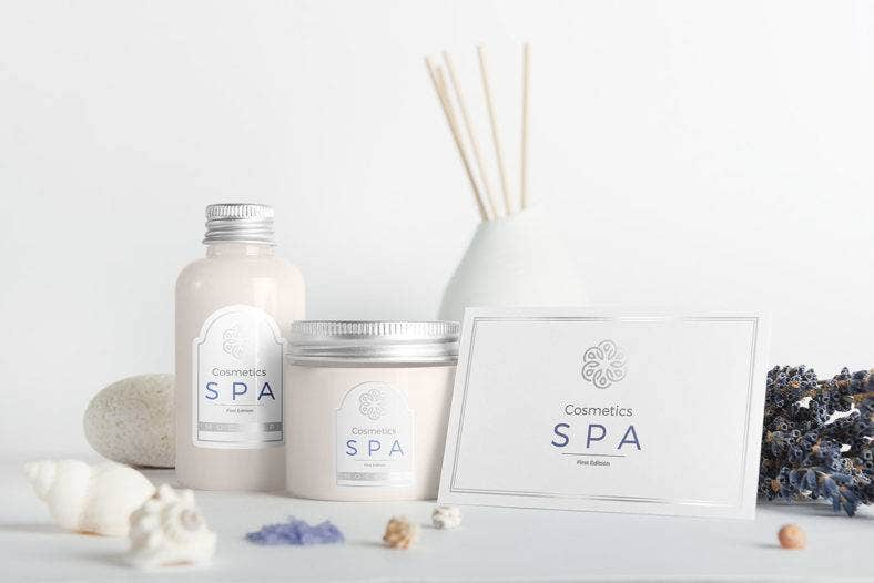 Spa Product Label Mockup