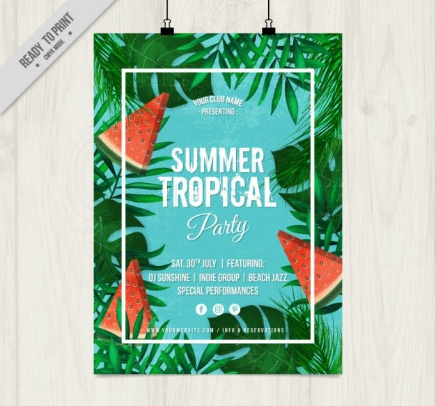 summer tropical party