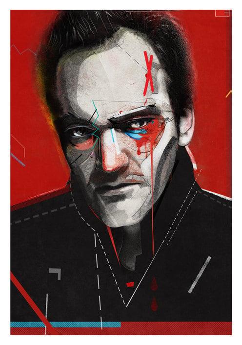 Quentin Tarantino Digital Portrait