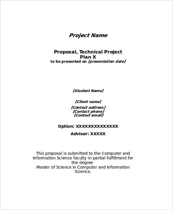 technical project proposal