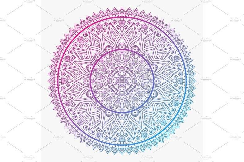 Technicolor Mandala Vector
