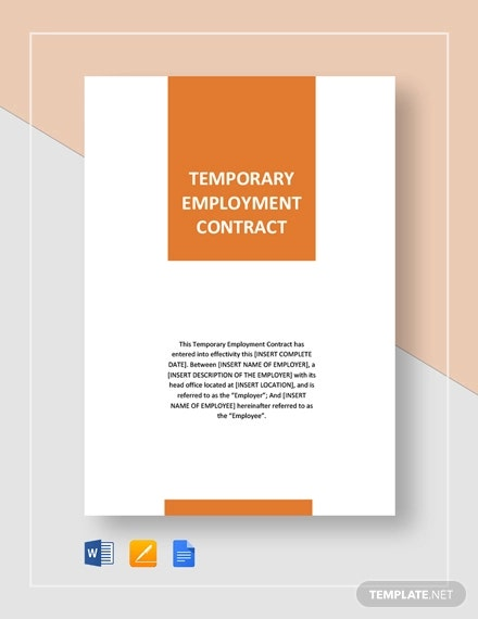 temporary employement contract