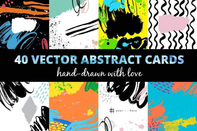 Abstract Vector Cards