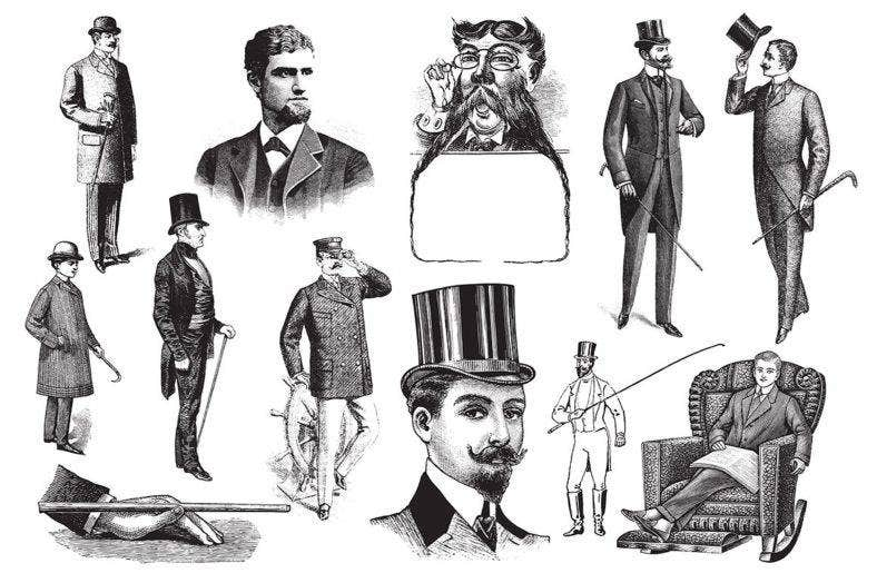 Vintage Gentlemen Illustrations