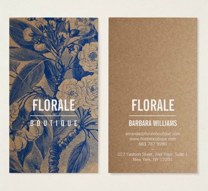 Vintage Floral Shop Business Card