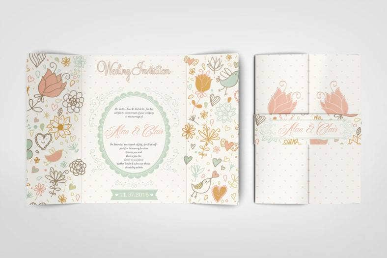 Gatefold Wedding Invitation