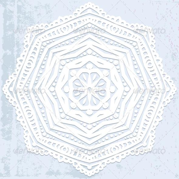 White Bold Mandala