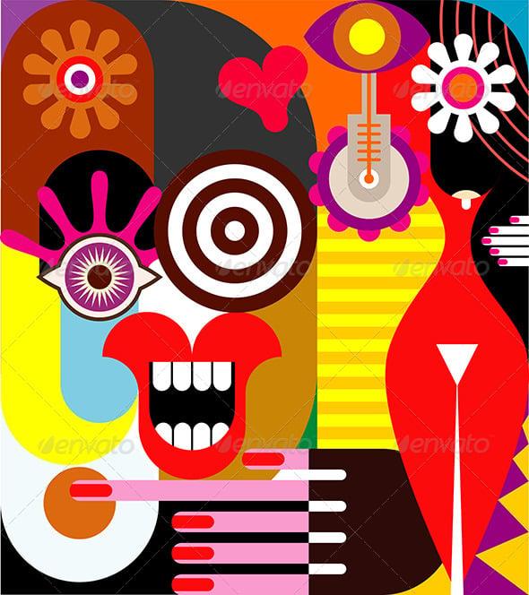 Abstract Women Illustration