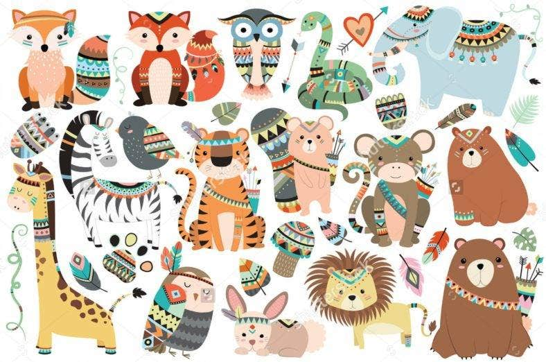 Woodland Animal Vectors