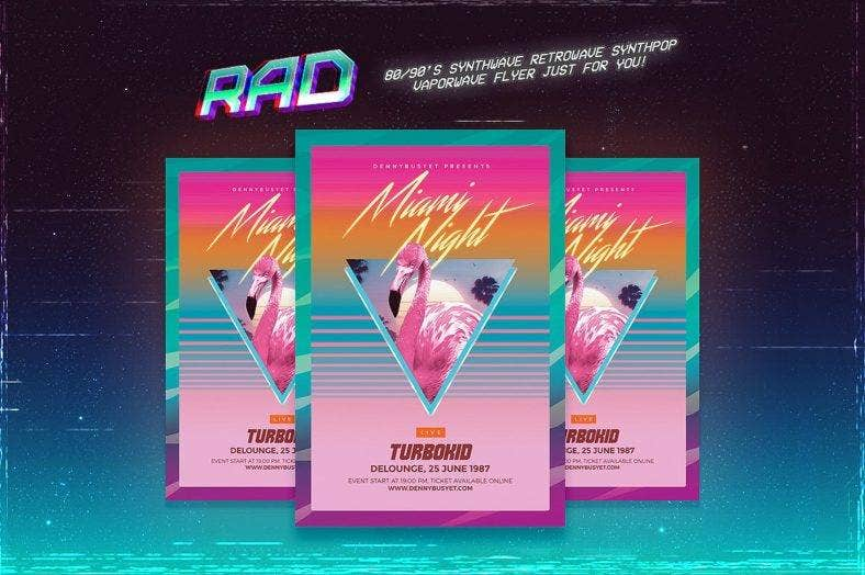 26+ Synthwave Retro Design Elements | Free & Premium Templates