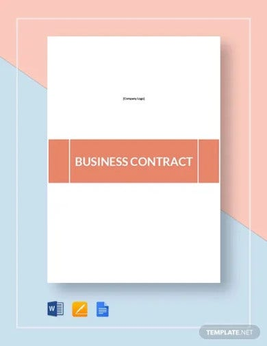 business contract template