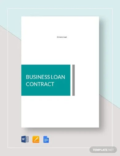 business loan contract template