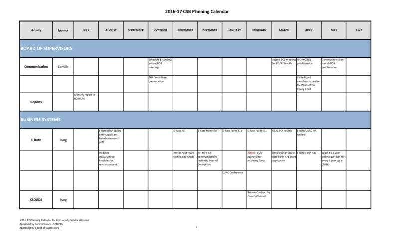 20  business calendar templates