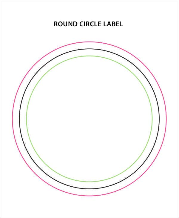 circle round label template