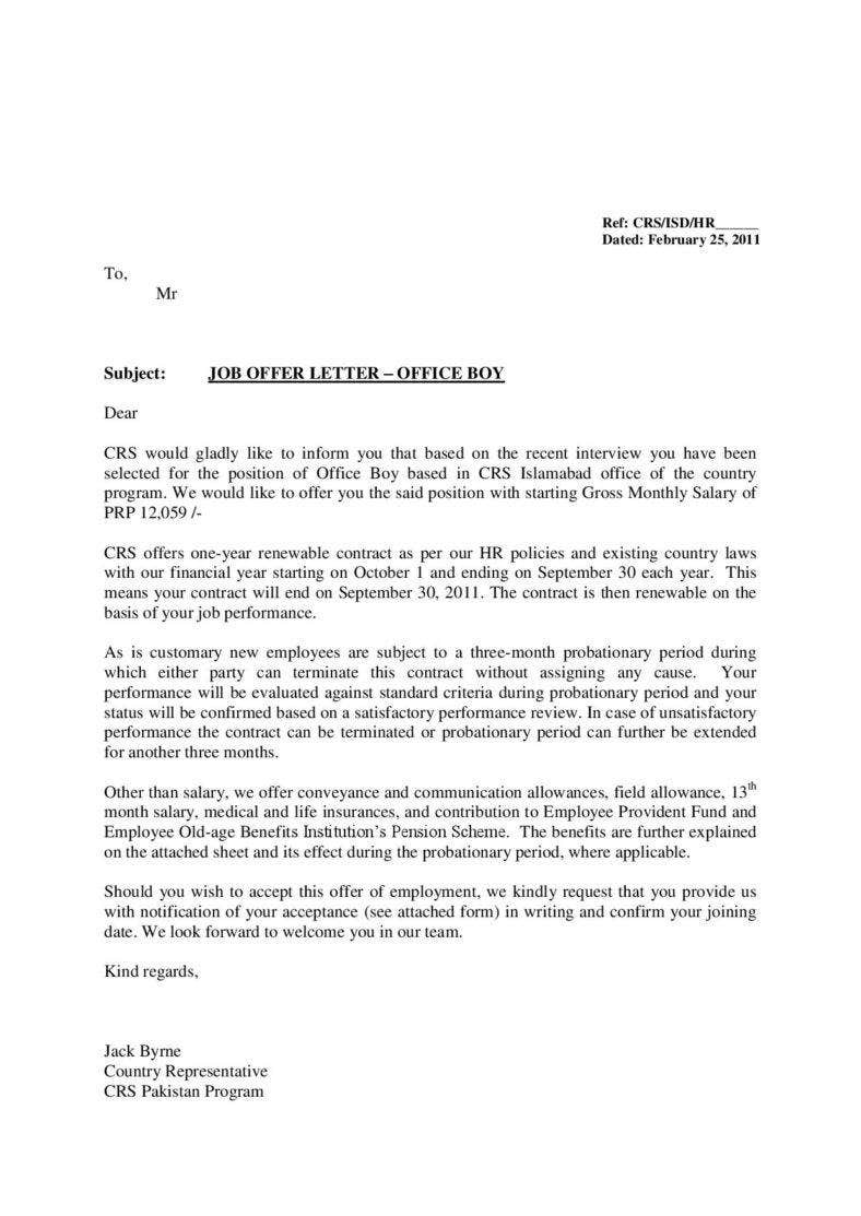 company job offer letter format page 001 788x1113