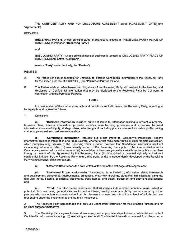 confidential-non-disclouser-agreement-form-pdf-file-page-001