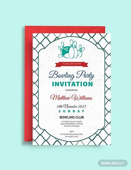 corporate bowling invitation template