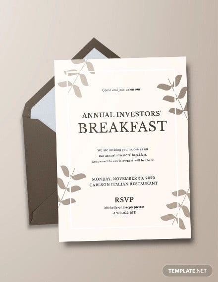 corporate breakfast invitation template