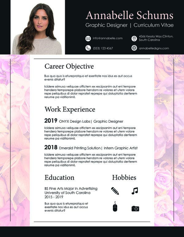 editable generic resume template