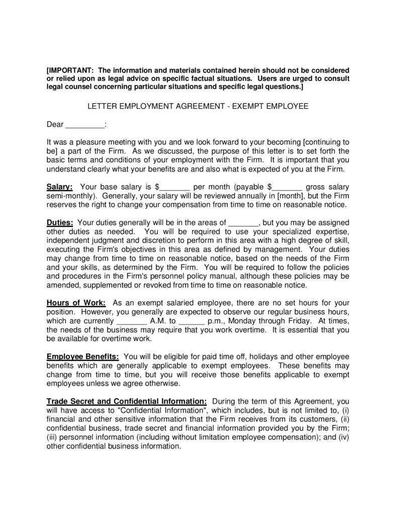 exempt-employee-employement-agreement-letter-page-001