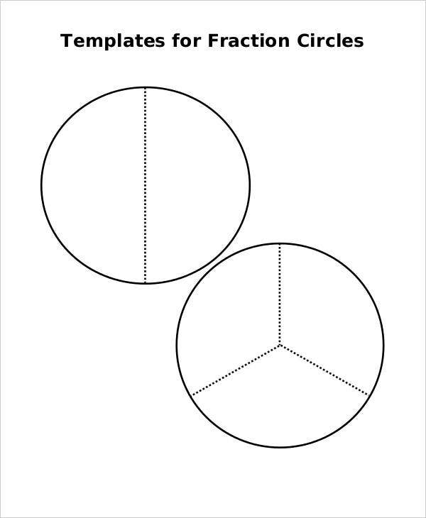 This is a picture of Bright Fraction Circles Printable