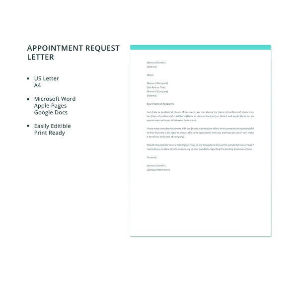 free-appointment-request-letter-template