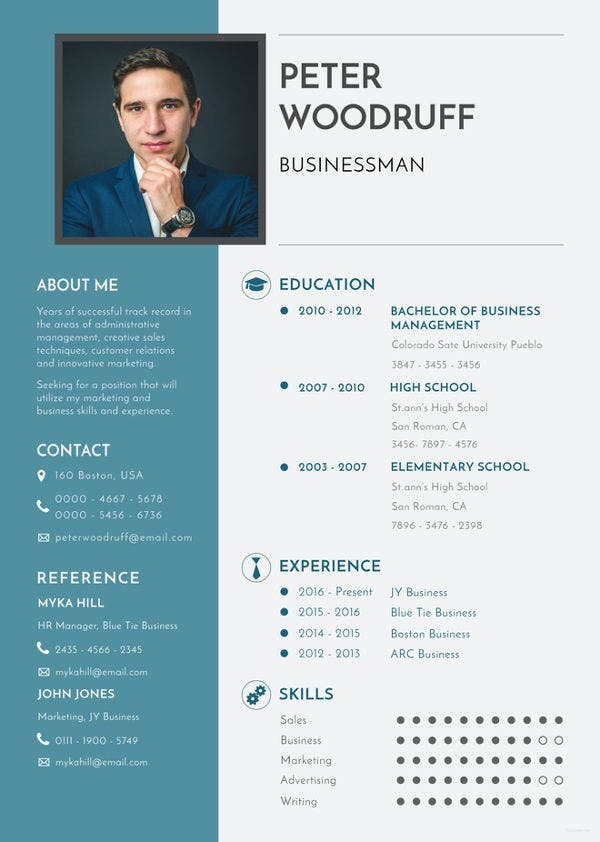 business resume template  u2013 11  free word  excel  pdf