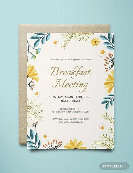 free corporate breakfast invitation template