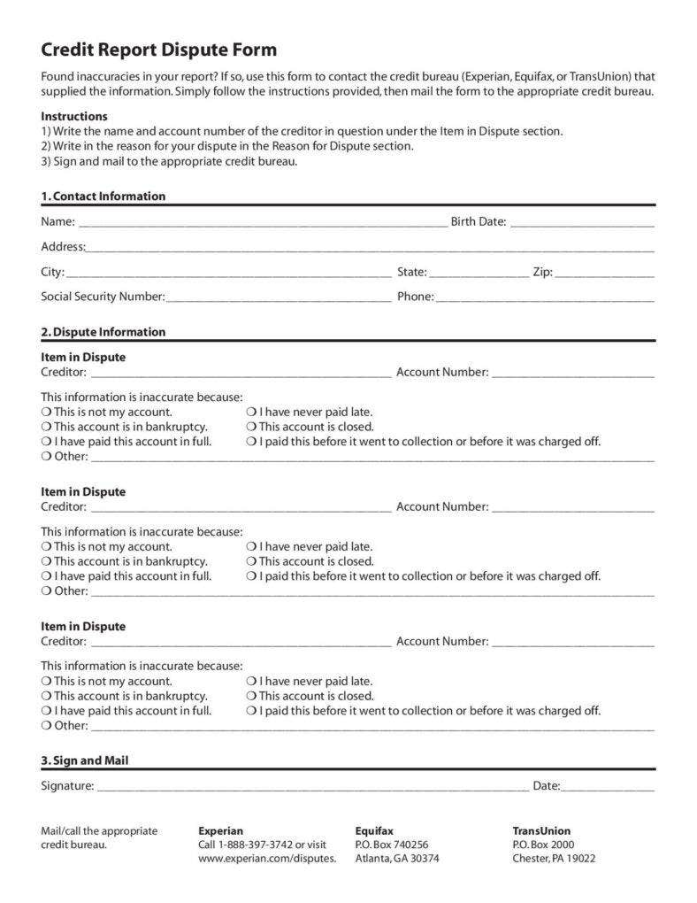 free credit report dispute form page 001 788x1020
