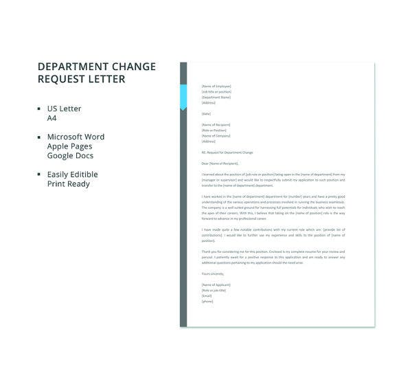 free-department-change-request-letter-template
