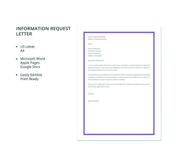 free-information-request-letter-template