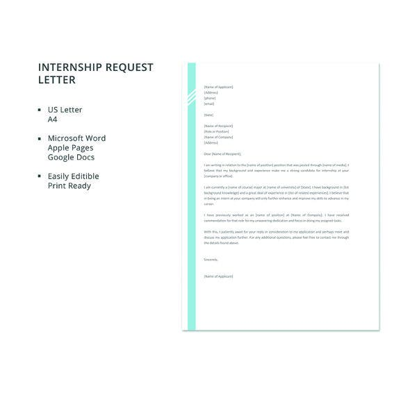 free-internship-request-letter-template
