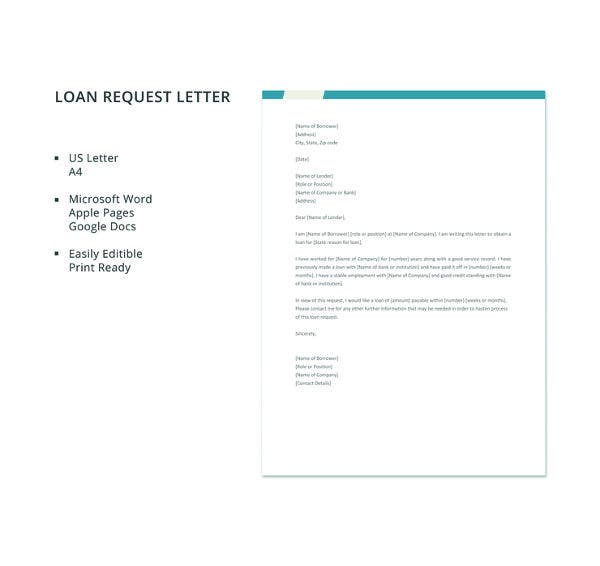 free-loan-request-letter-template