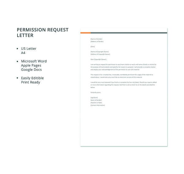free-permission-request-letter-template