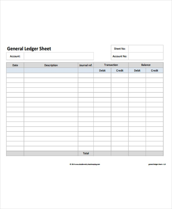 4+ Ledger Paper Templates - Free Samples, Examples, Format Download ...