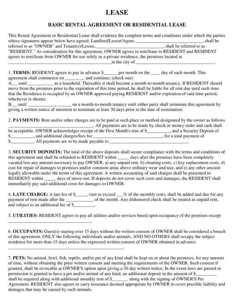Home Rental Termination Letter Template PDF Format