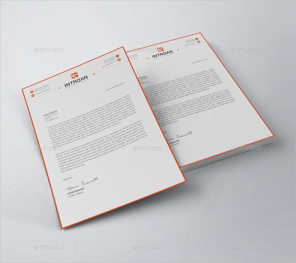 modern letterhead vector eps template