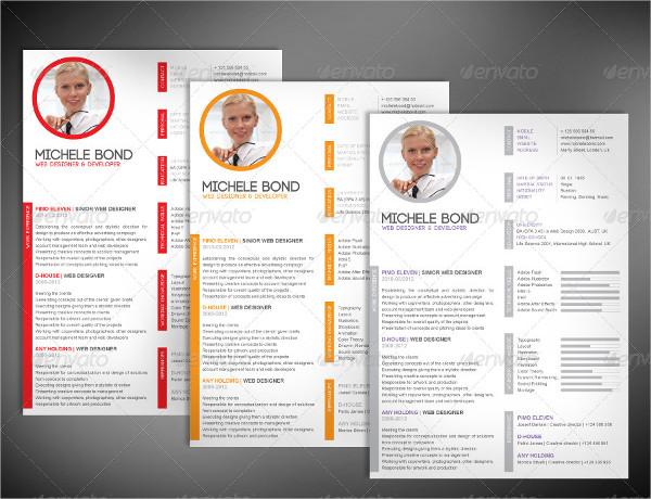 modern professional resume sample